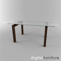 dining table 3d 3ds