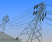 3ds max voltage electrical tower