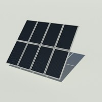 flat plate solar collector 3d model