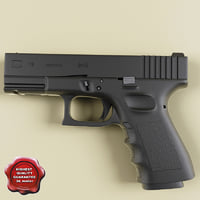 realistic glock 19 3d model