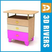 kid night stand 3d model