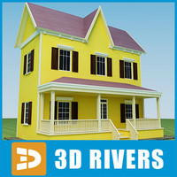 3d model small town house 46