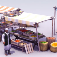 MarketStalls&Merchant_3DModel