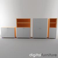3d office storage model