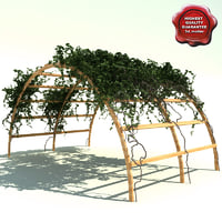 Pergola path with ivy V3