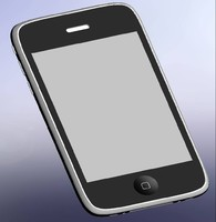 3d model iphone 3g step