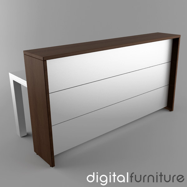 reception digital 3d model - Reception 02... by Digital Furniture