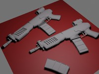 free machine pistol 3d model