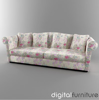 sofa digital 3d max