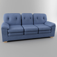 sofa digital 3d obj