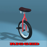 3d model unicycle rigged