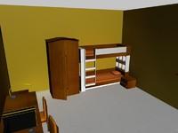 3ds max bedroom bed