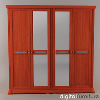 wardrobe digital 3d model