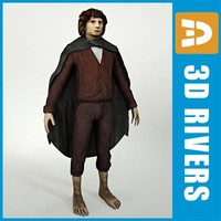 3d model hobbit man fantasy