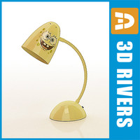 3d 3ds sponge bob kid desk lamp