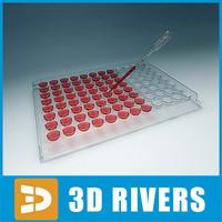 3d model medical lab plate