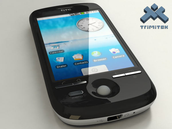 3d htc magic - model - HTC Magic - Black... by trimitek