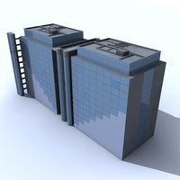 generic office building 3d max