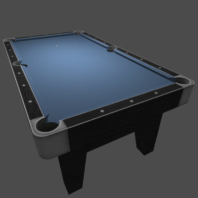 Low Poly Billiards Table Blue