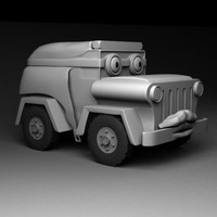 military vehicle character 3d model