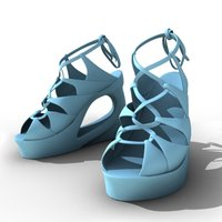 3d model female shoes