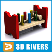 baby toy wooden 3d 3ds