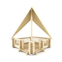 3d model summerhouse house