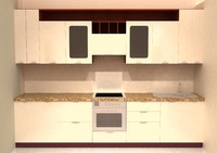 kitchen vega nova 3d max