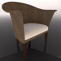 3d model rattan chair