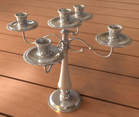 candle stand 3 3d max