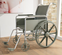 wheel chair 3d model