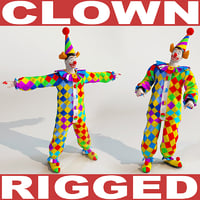 clown rigged biped 3d max
