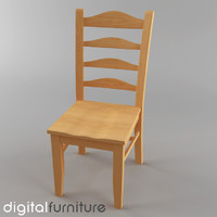 dining chair 3d max