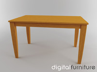 dining table 3d lwo