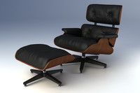 3d max eames lounge chair ottoman