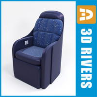 First class seats middle poly by 3DRivers