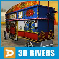 3d model circus trailer