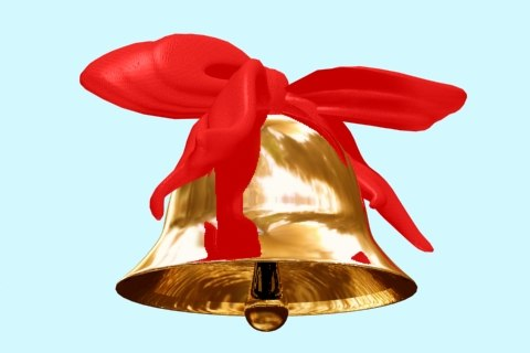 bell with bow