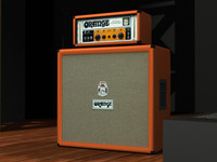 3d model of orange or-50 4x12 cabinet