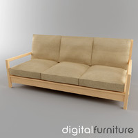 3d model sofa digital