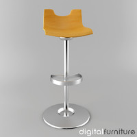 stool digital 3d model