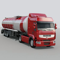 renault premium tank 3d model