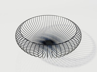 metal wire bowl 3d model