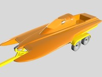 3d drag boat trailer