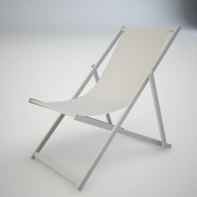 deck chair 3d model - chair1.max... by romarender