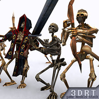 skeletons character 3d model