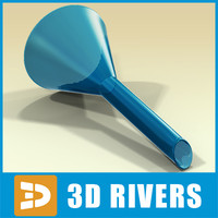 3d model glass funnel