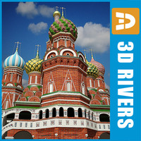 3d model st basil cathedral saint