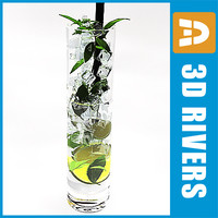 3d model mojito cocktail
