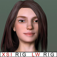 Young woman - Paris - LW and XSI rigged